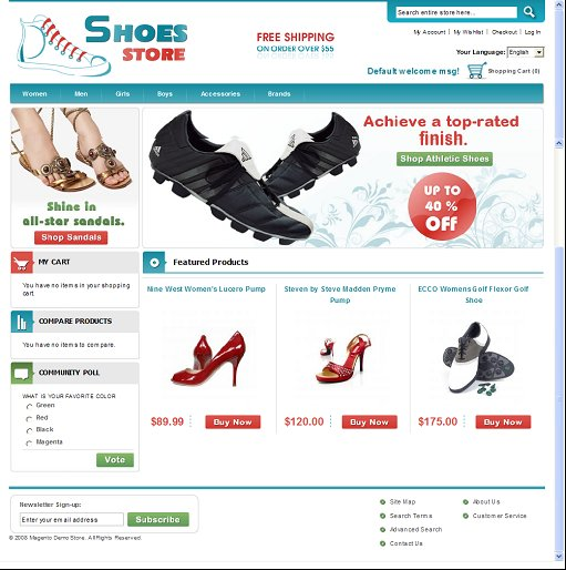 Shoes Store Magento Theme