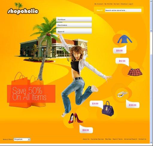 Shopaholic Magento Theme