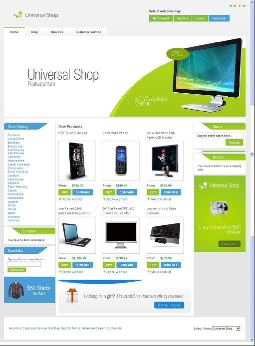 Universal Shop Magento Theme