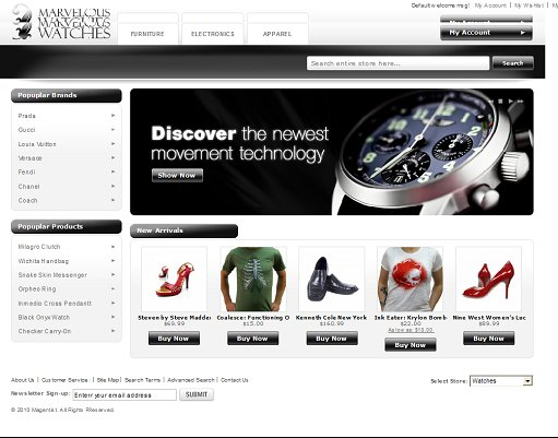 Watch Store Magento Theme