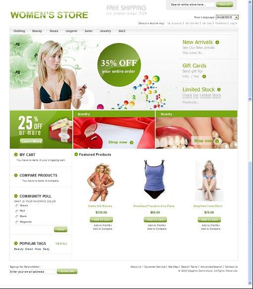 Women's Store Magento Theme