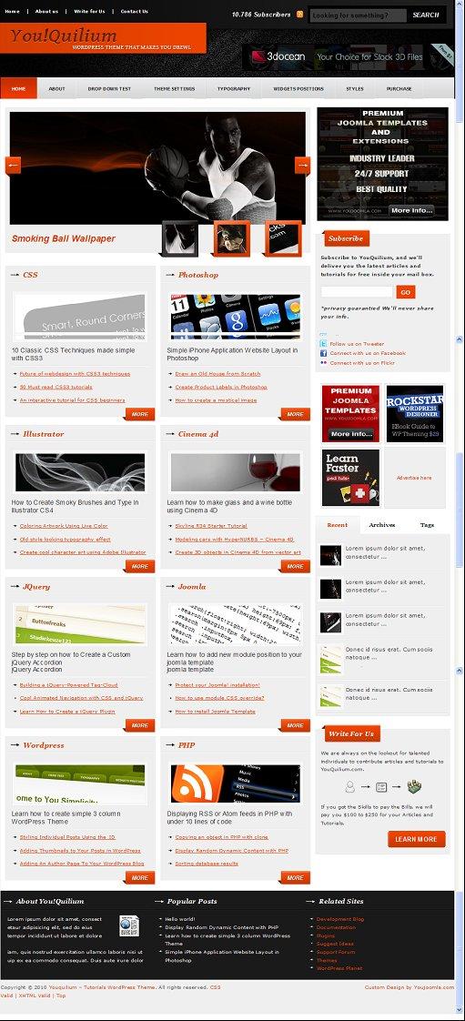 YouQuilium WordPress Theme