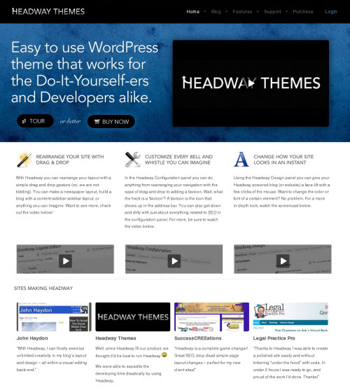 headway WordPress theme1.61