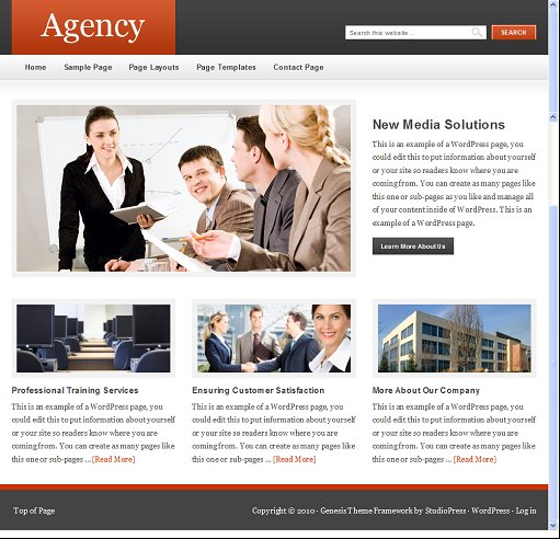 StudioPress Agency child theme