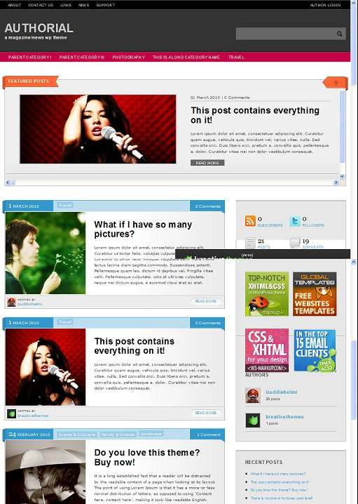 Authorial WordPress Theme