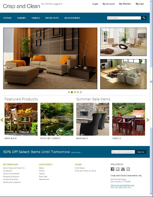 Crisp and Clean Magento Theme