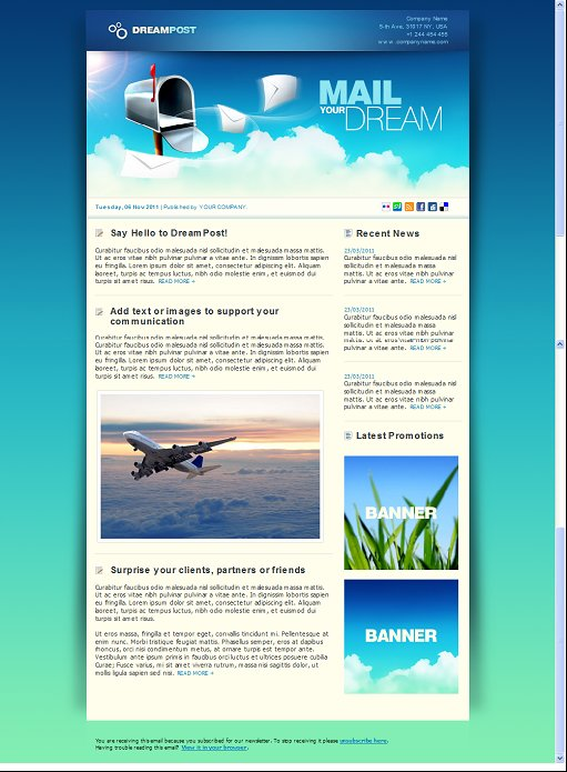 Dream Post Newsletter Template