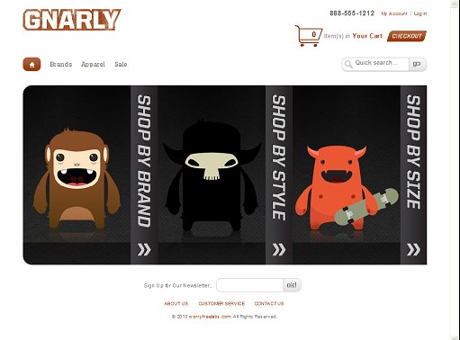 Gnarly Magento Theme