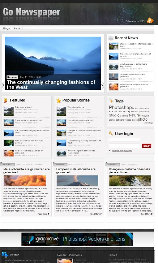 Go Newspaper druapl theme