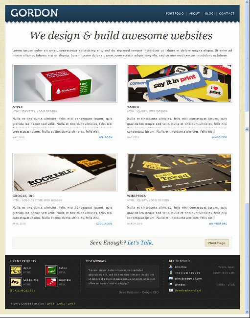 Gordon WordPress Theme