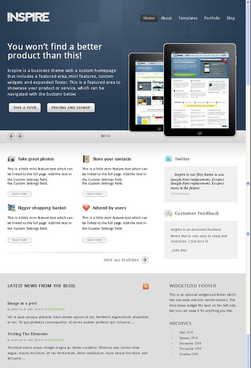 WooThemes Inspire WordPress Theme