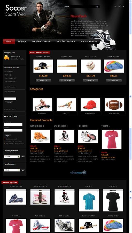 JM Sportswear Store Joomla Template