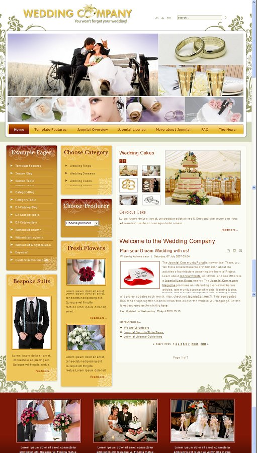 JM-Wedding03 joomla Template