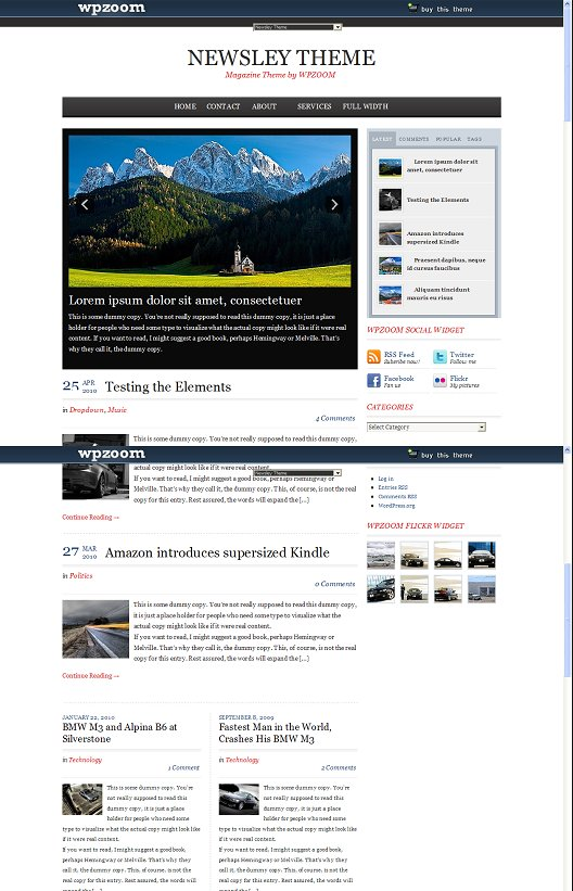 WpZOOM Newsley Theme