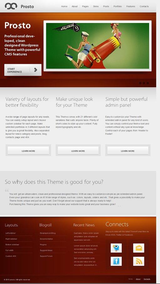 Prosto WordPress theme