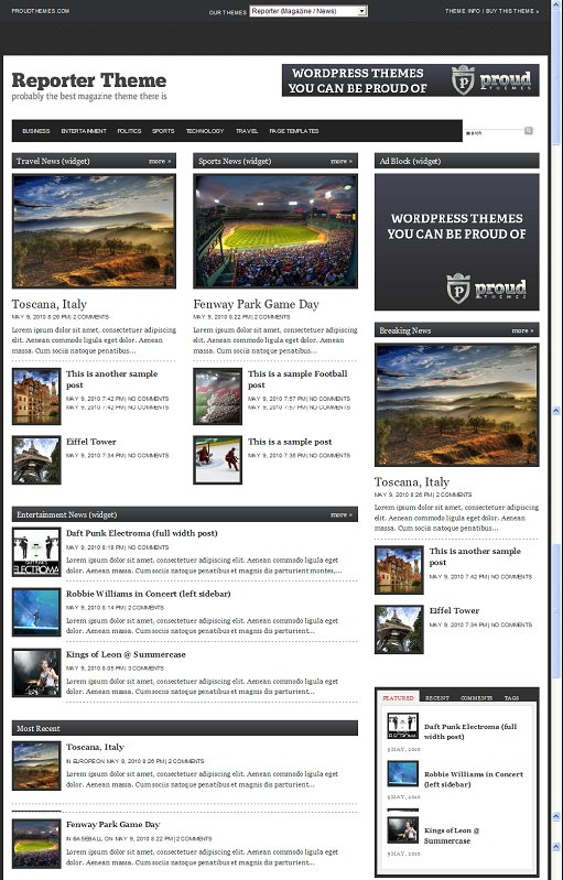 Reporter WordPress Theme