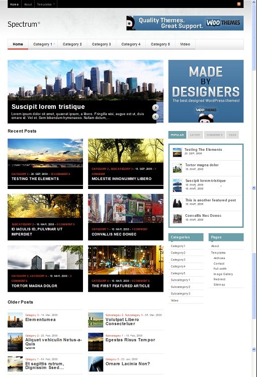 WooThemes Spectrum WordPress Theme