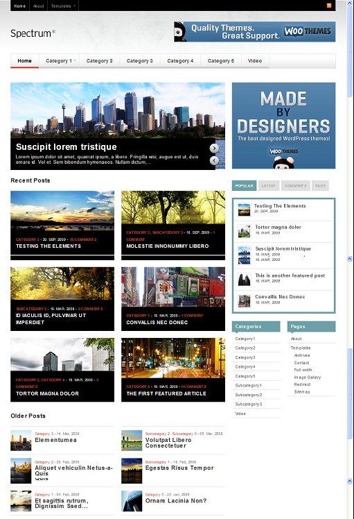WooThemes Spectrum WordPress Theme