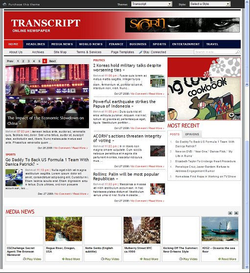 Transcript Premium WordPress Theme