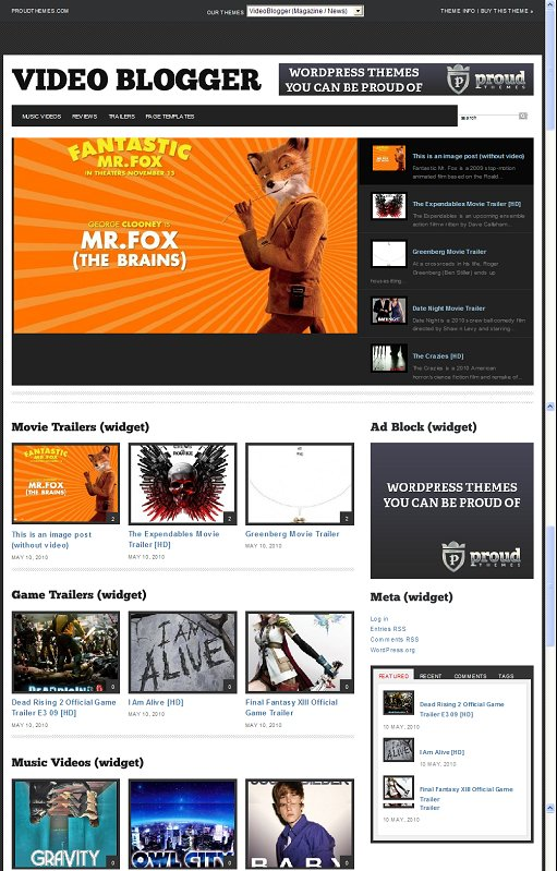 VideoBlogger WordPress Theme