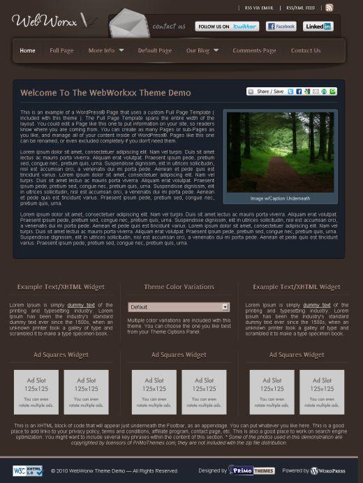 WebWorxx WordPress Theme