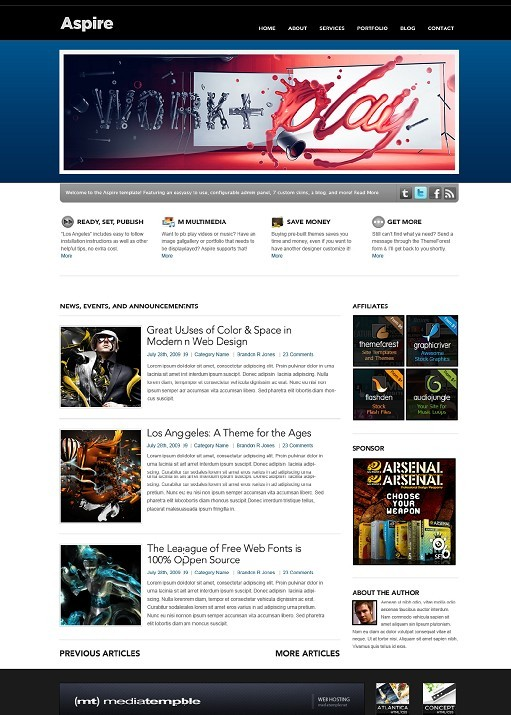 Aspire Ultimate WordPress Theme