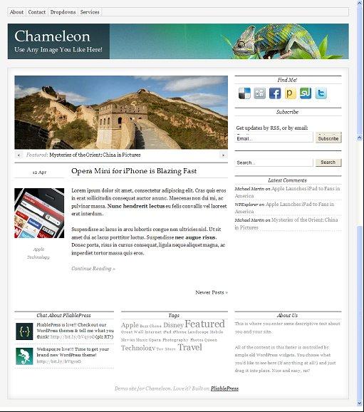 Chameleon Framework theme