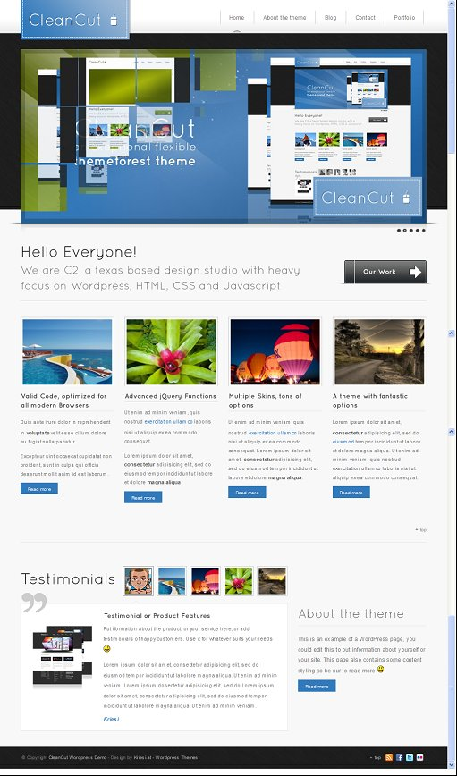 CleanCut wordpress theme