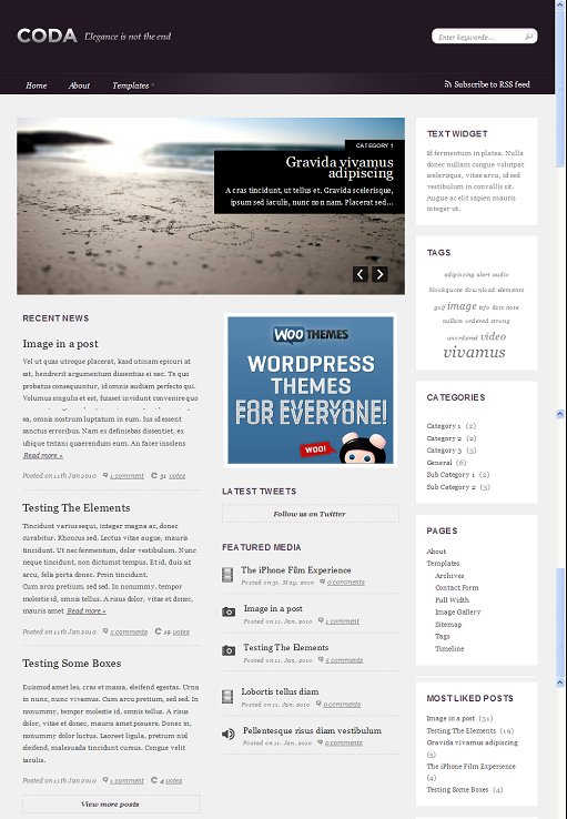 Woothemes Coda WordPress Theme
