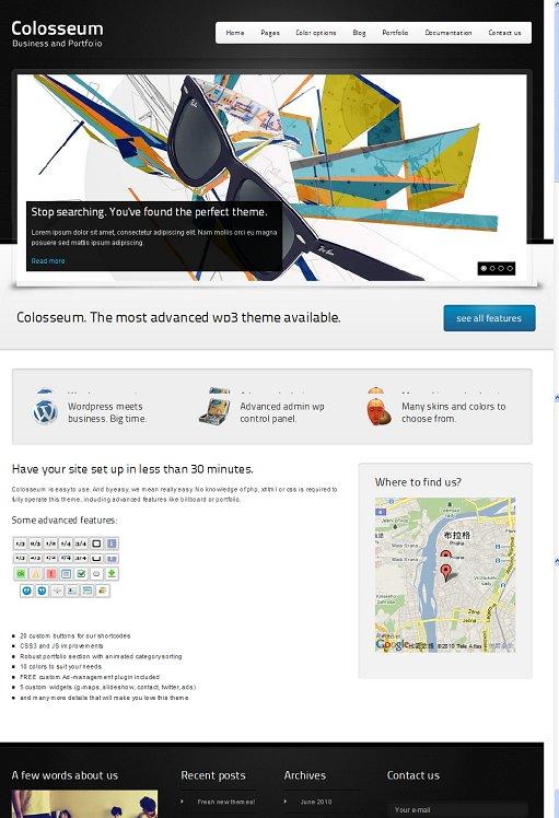 Colosseum WordPress Theme