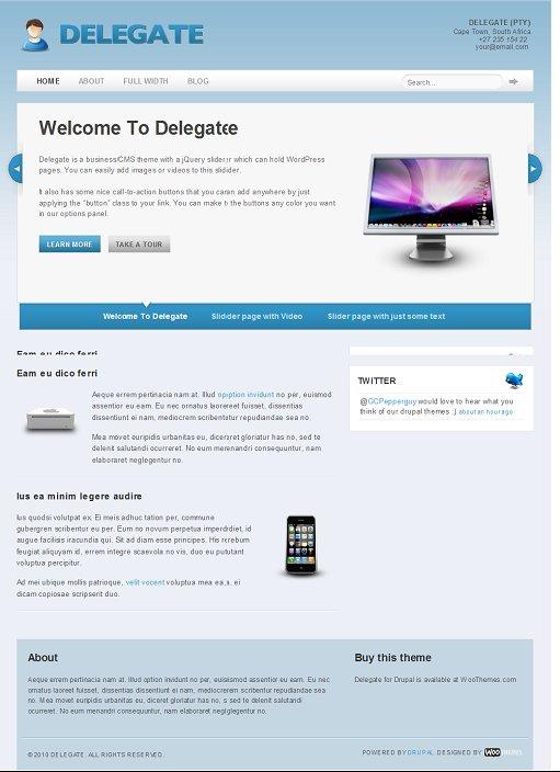 Delegate Drupal Theme