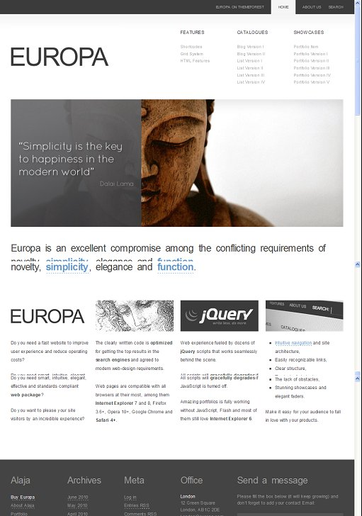 Europa WordPress Theme