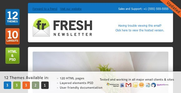 Fresh Newsletter email template