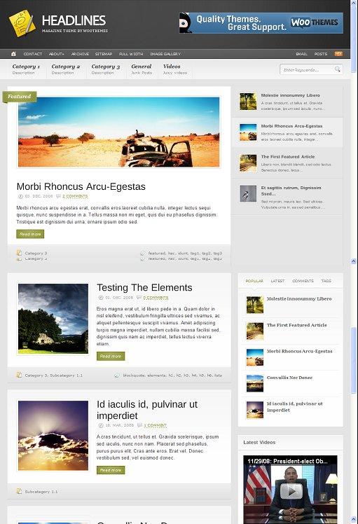 Headlines Drupal Theme