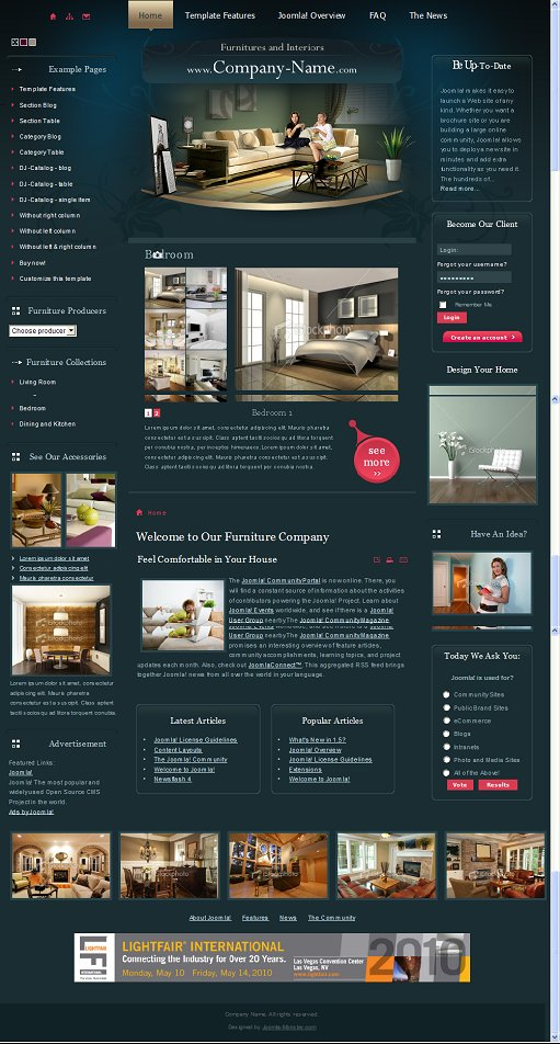 JM Furniture Joomla Template
