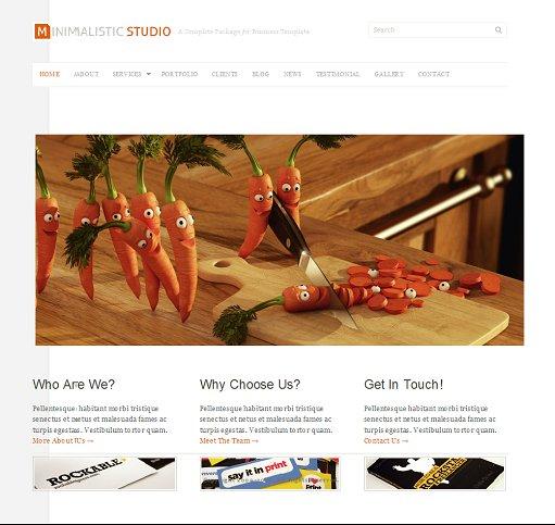 Minimalistic Studio WordPress Theme