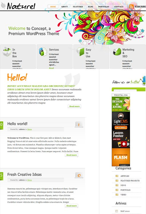 Naturel Premium WordPress Theme