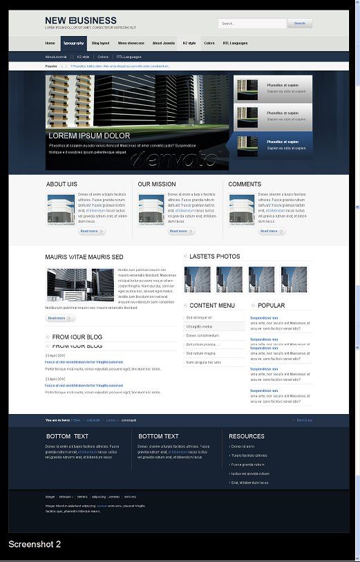 New Business Joomla Template ThemeForest
