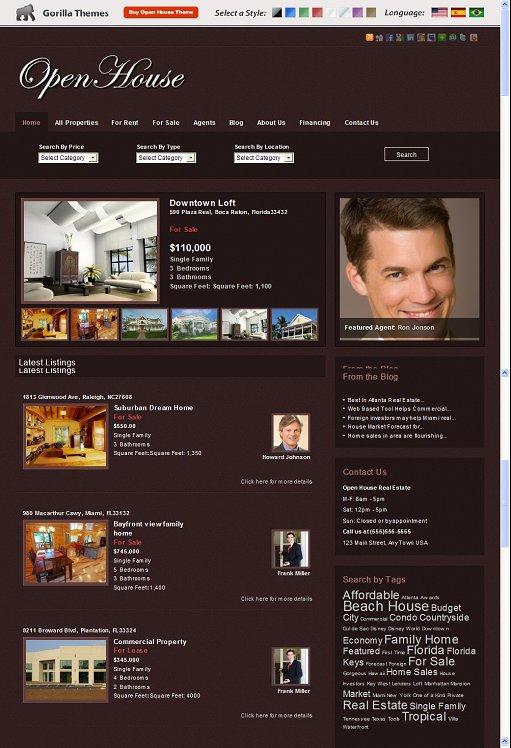 OpenHouse WordPress theme