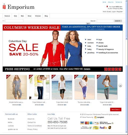 Templatic Emporium theme