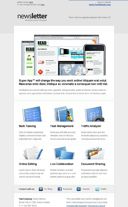 Versatile Newsletter email template