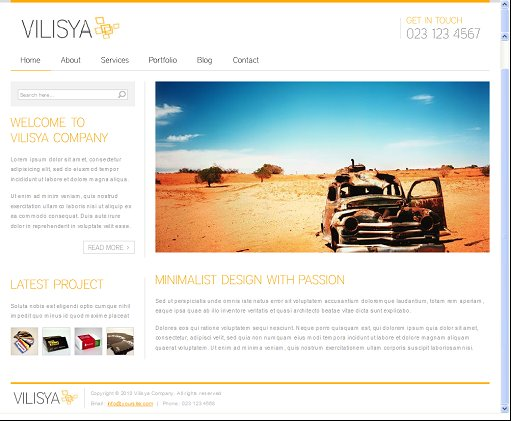 Vilisya WordPress Theme
