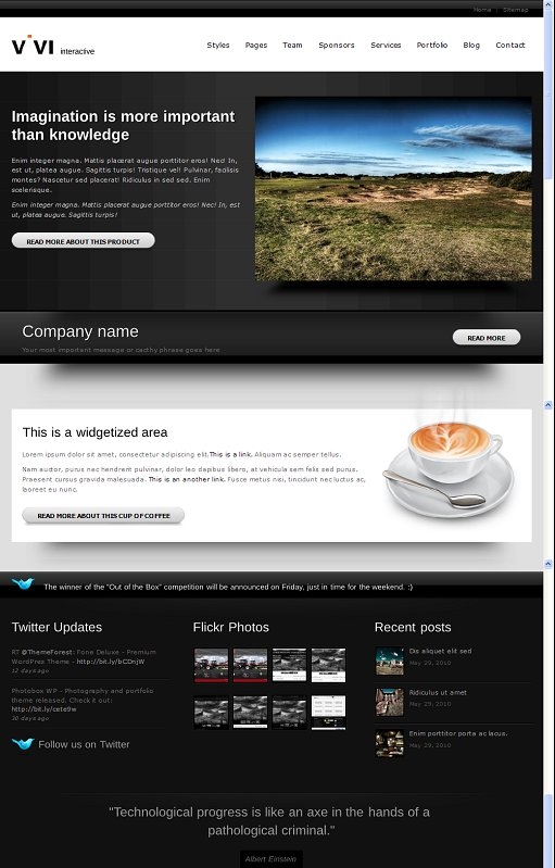 Vivi Interactive WordPress Theme