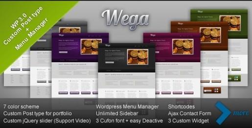 WEGA WordPress theme