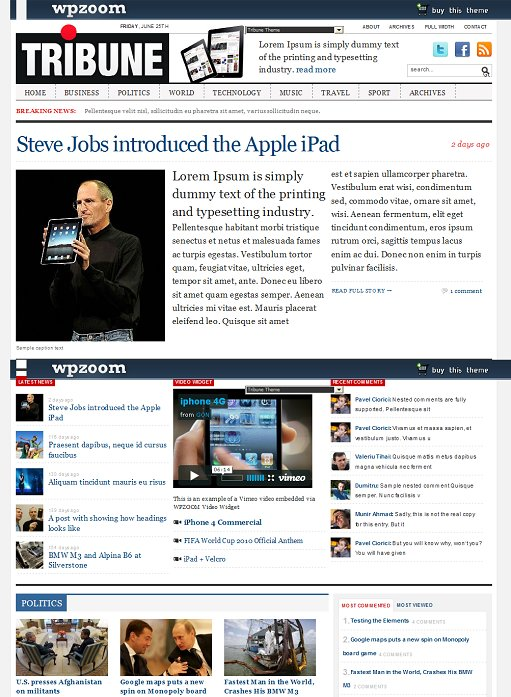 wpzoom tribune theme