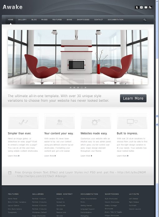 Awake Professional WordPress theme