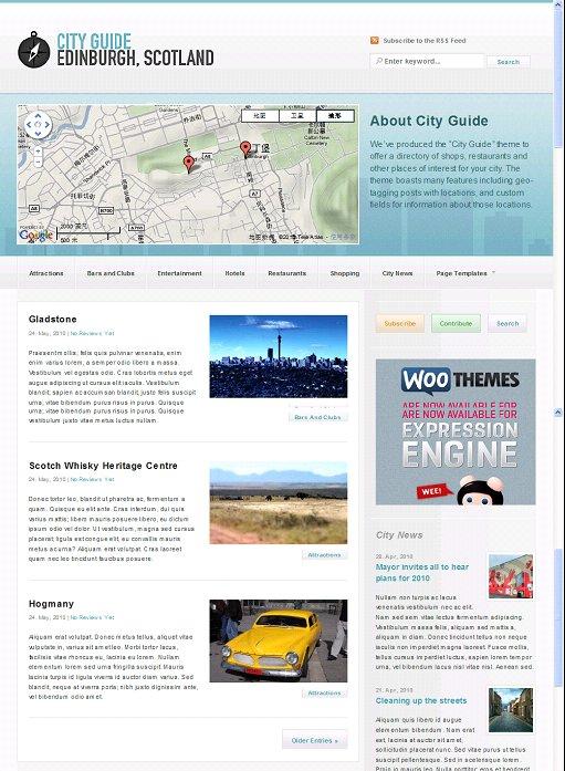 City Guide ExpressionEngine Theme