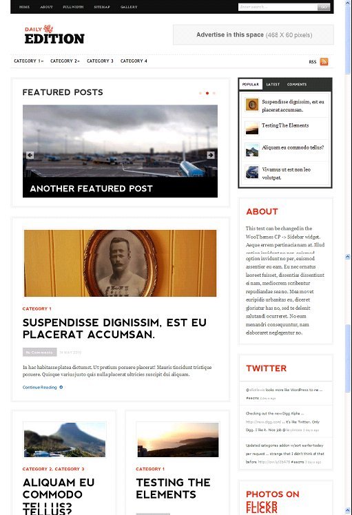 WooThemes Daily Edition ExpressionEngine Theme