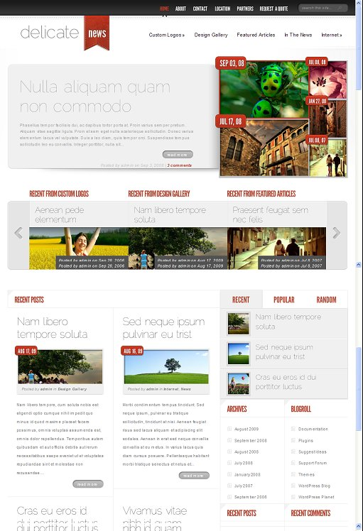 DelicateNews WordPress Theme