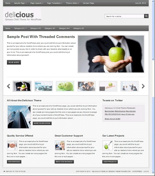 StudioPress Delicious Child Theme